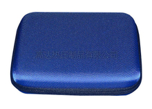 Custom External Hard Drive Carrying Case, Blue Durable Hard Drive Case EVA Plate